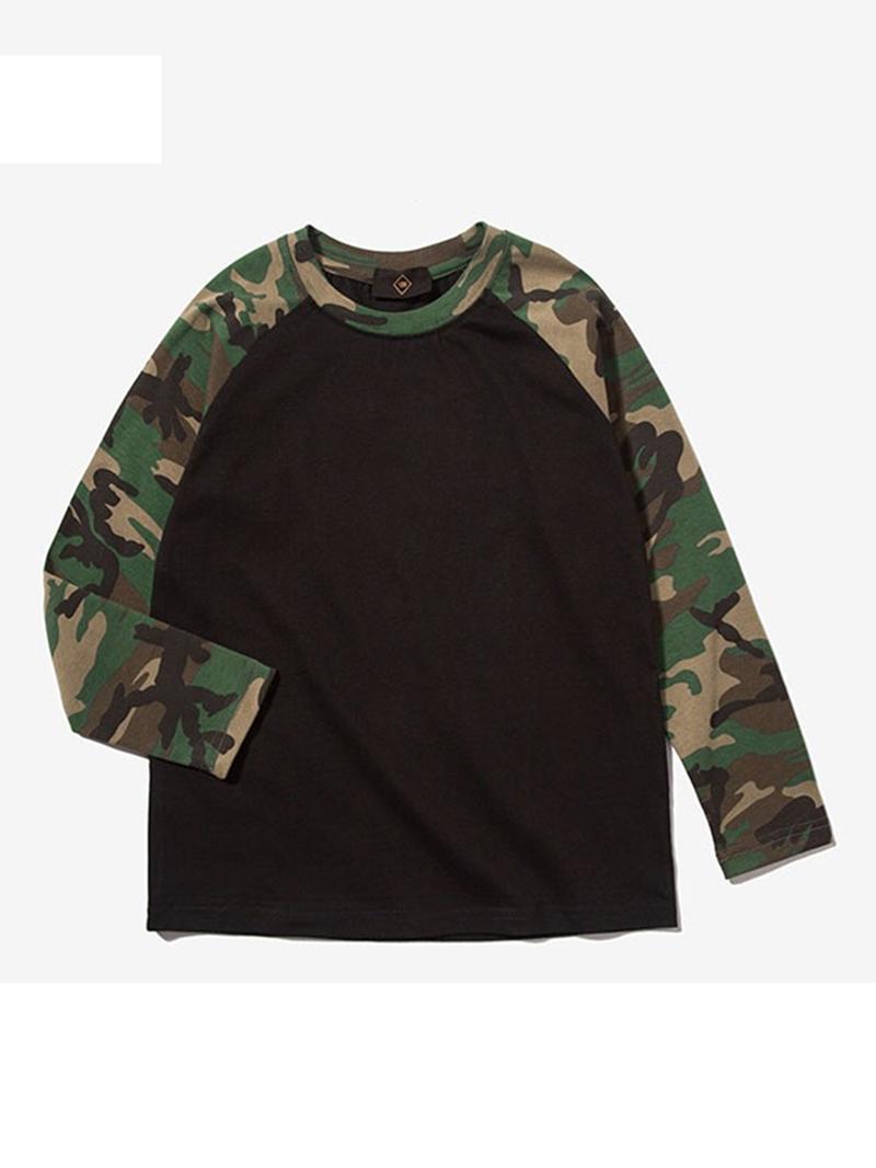 Ericdress Camouflage Sleeve Cotton Boys' T-shirt