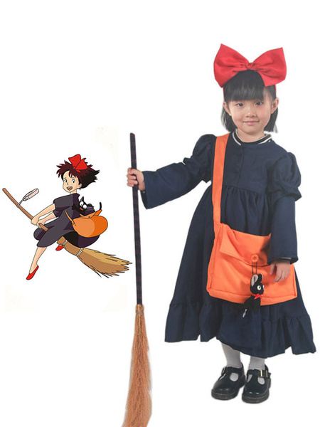 Milanoo Kiki\'s Delivery Service Kiki Halloween Cosplay Costume For Kids