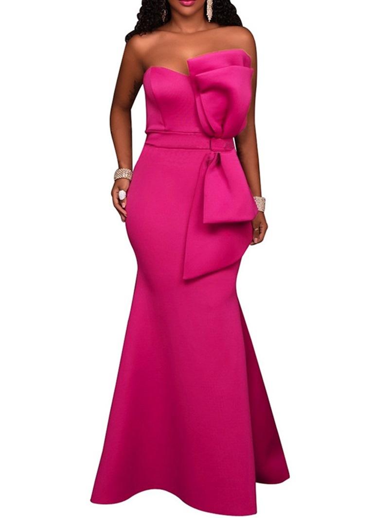 Ericdress Mermaid Bowknot Floor-Length Mid Waist Bodycon Dress
