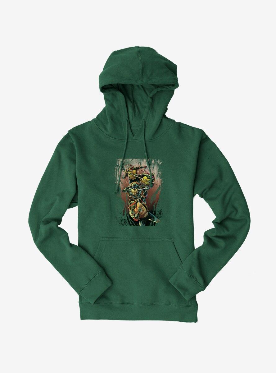 Teenage Mutant Ninja Turtles Brown Paint Group Fight Hoodie