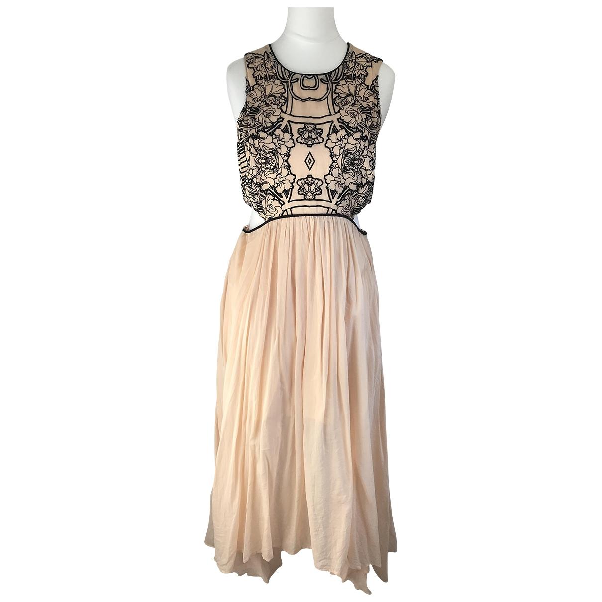 Alice Mccall \N Beige Silk dress for Women 4 US