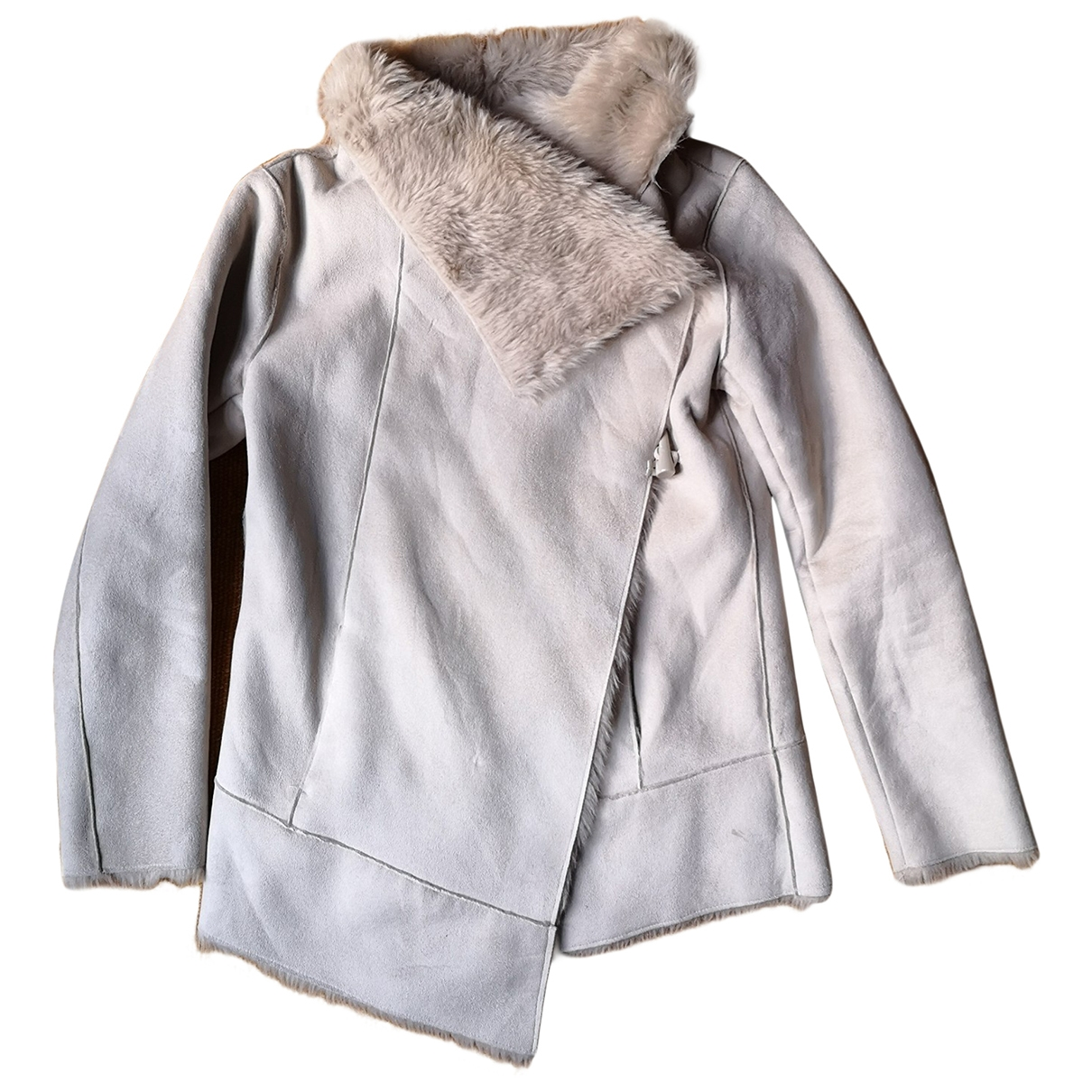 Non Signé / Unsigned \N White Faux fur jacket for Women M International