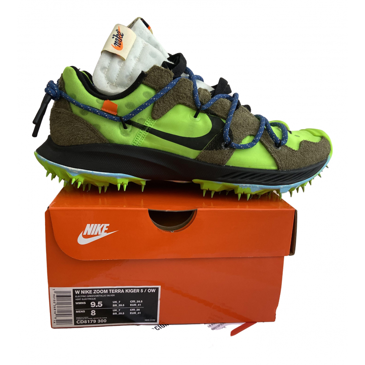 Nike X Off-white Zoom Terra Kiger 5 Green Trainers for Men 41 EU