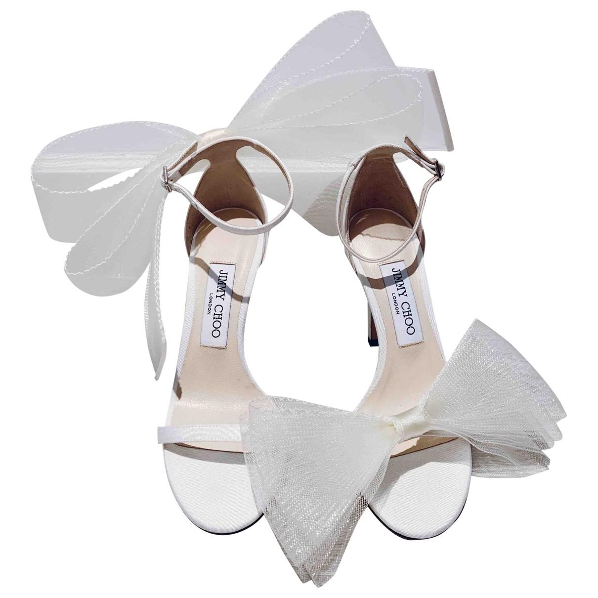 Jimmy Choo \N White Mongolian Lamb Sandals for Women 37 EU