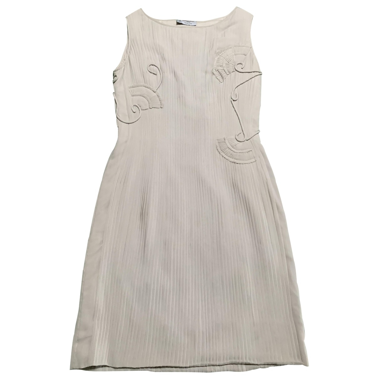 Alberto Biani \N Beige Silk dress for Women 40 IT