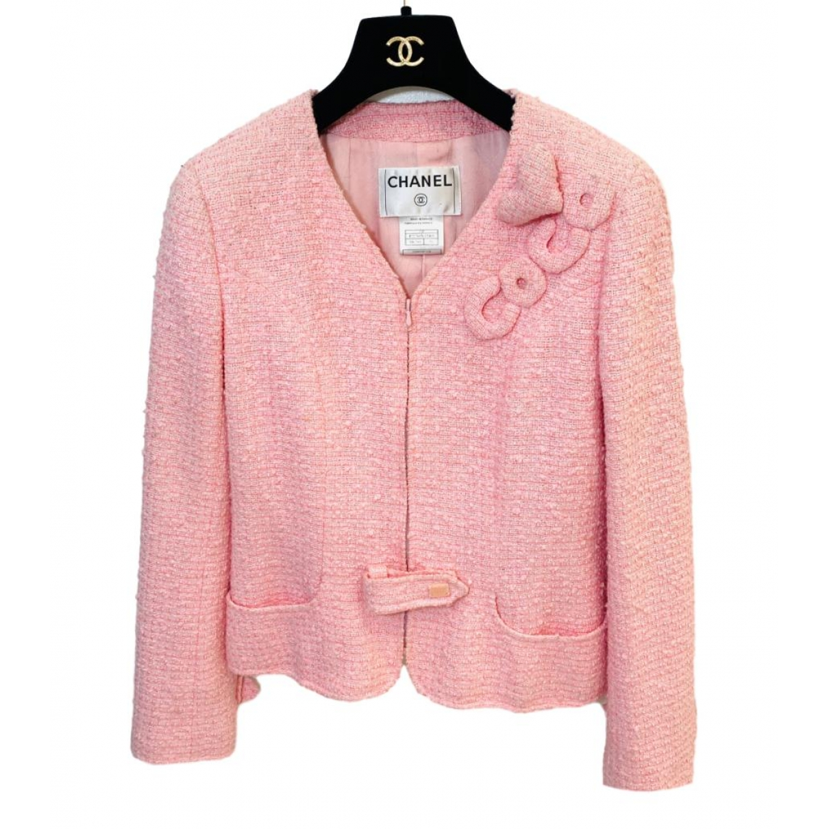 Chanel \N Pink Tweed jacket for Women 38 FR