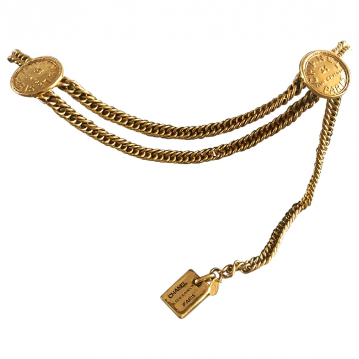 Chanel \N Gold Chain belt for Women 85 cm