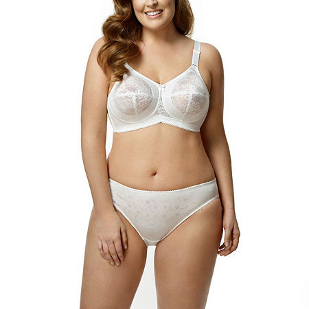 Elila Lace Softcup Full Coverage Bra, H , White