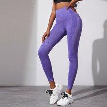 Polka Dot Textured Sports Leggings