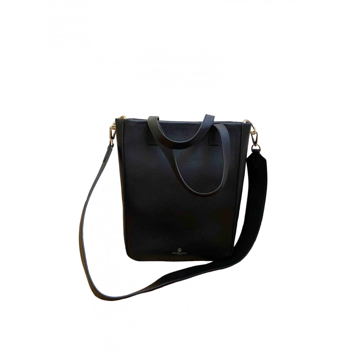 Cambiaghi \N Black Leather handbag for Women \N
