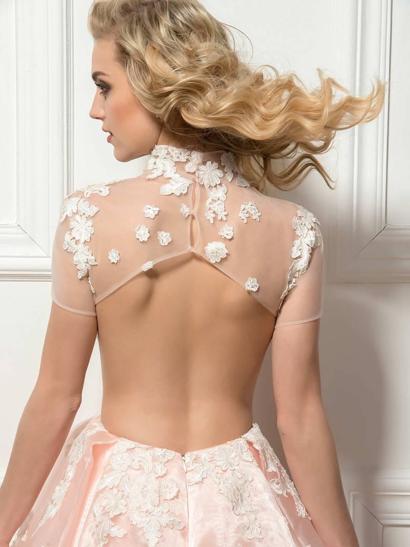 Admirable High Neck Open Back A-Line Short Cocktail Dress