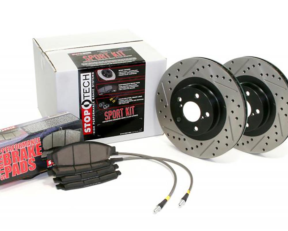 StopTech 978.33007R Sport Axle Pack Drilled and Slotted; Rear Audi Allroad Quattro Rear 2001-2005 2.7L V6