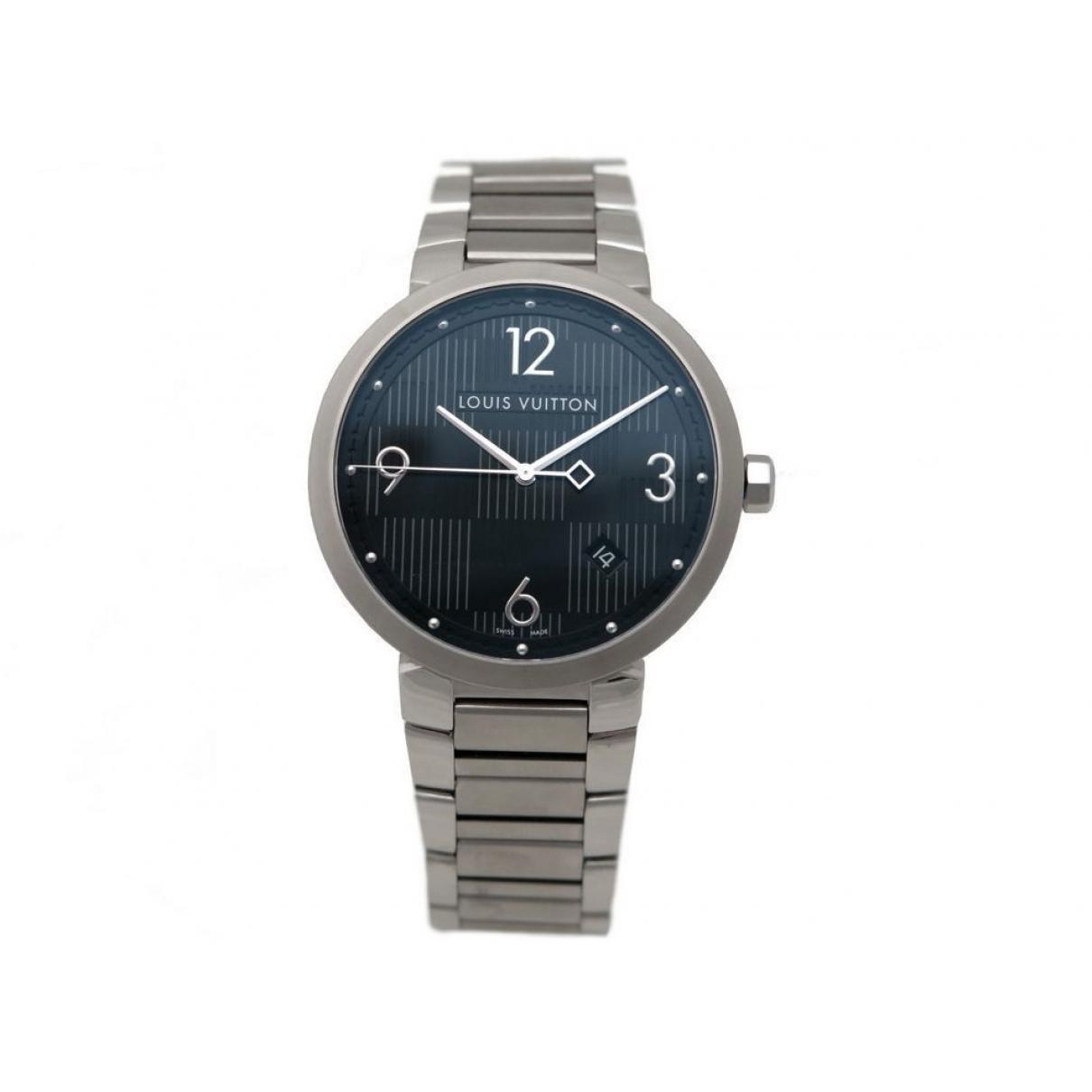Louis Vuitton Tambour Silver Steel watch for Men \N