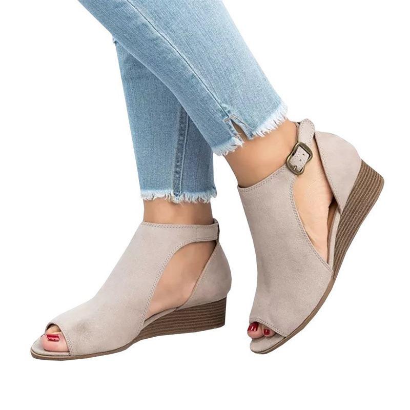 Ericdress Peep Toe Wedge Heel Women's Sandals