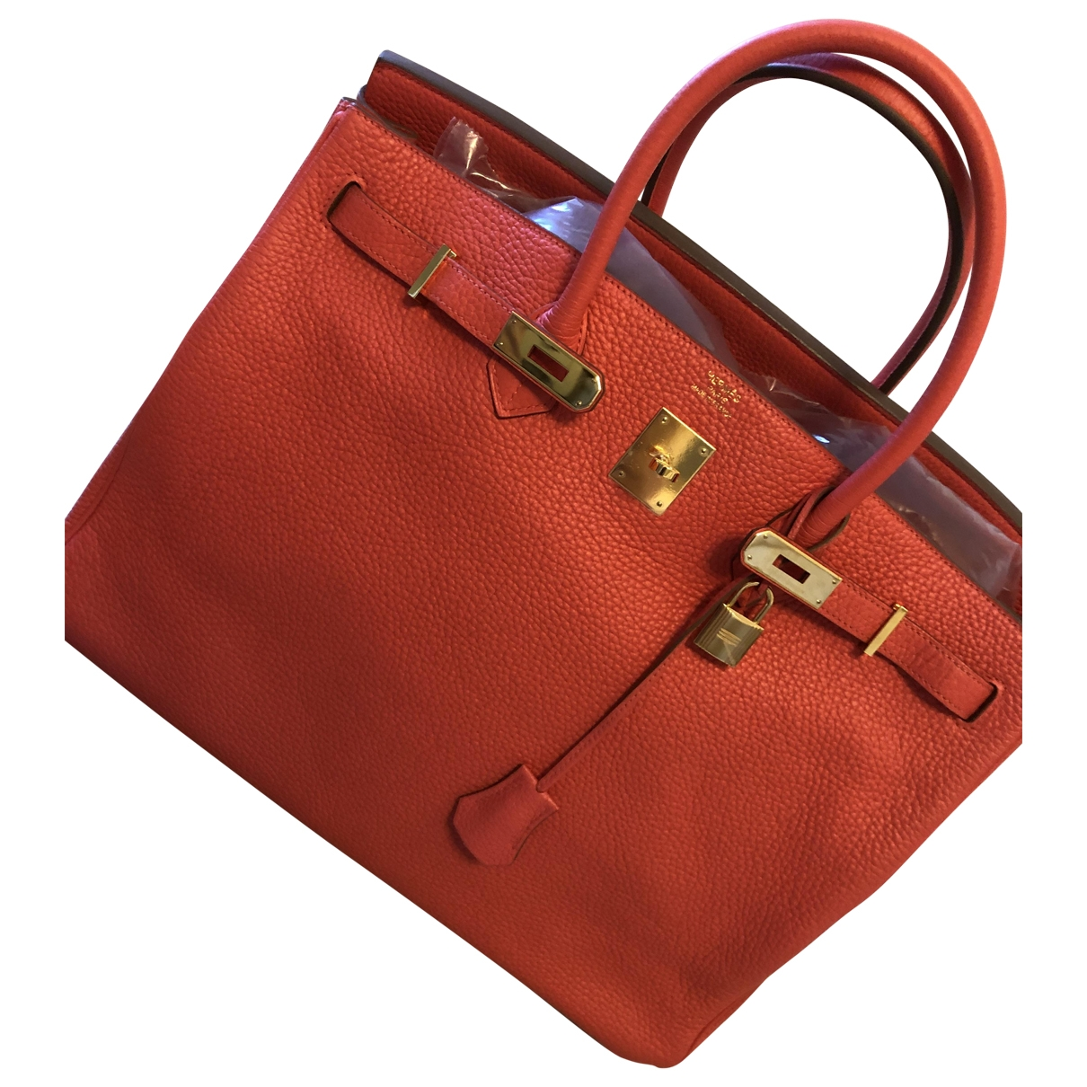 Hermès Birkin 40 Red Leather handbag for Women \N