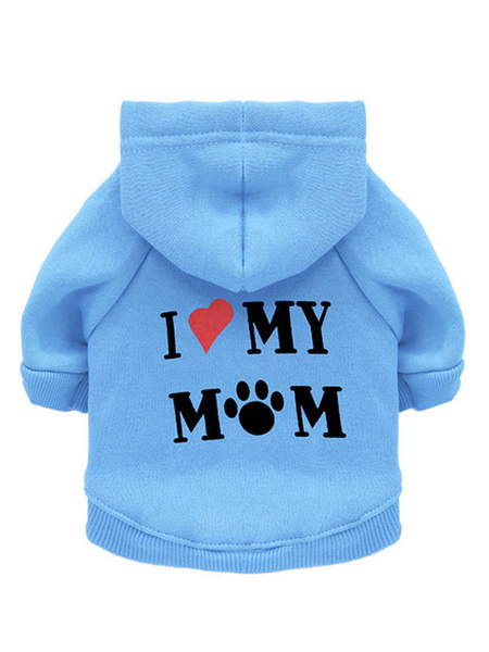 Milanoo Cotton Pet Clothes Letter Print Hooded Pet Hoodie