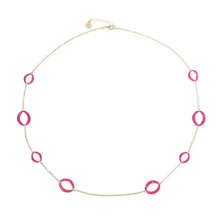 Liz Claiborne 34 Inch Cable Strand Necklace, One Size , Pink