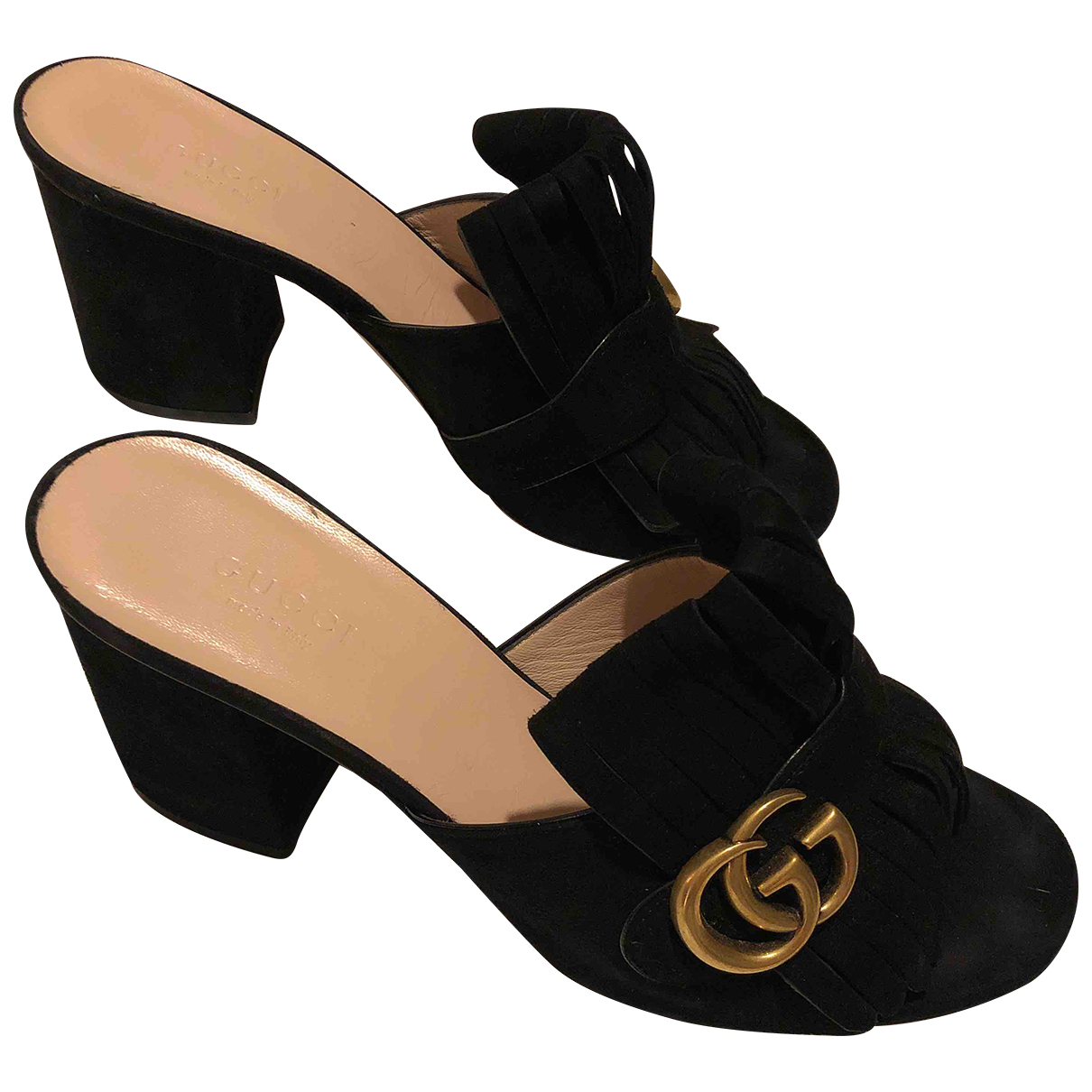 Autre Marque N Black Suede Mules & Clogs for Women 38 EU