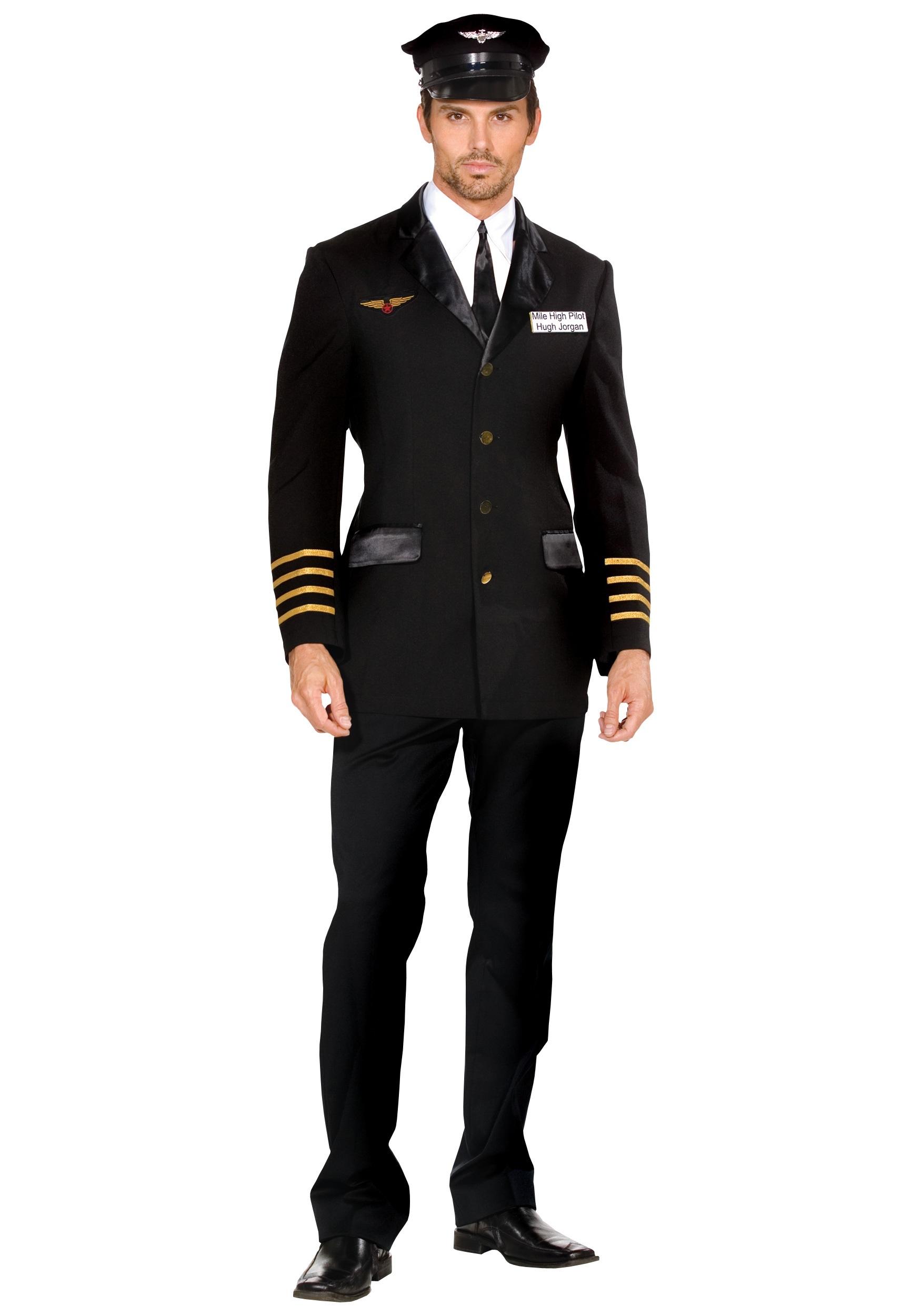 Mile High Men's Pilot Costume