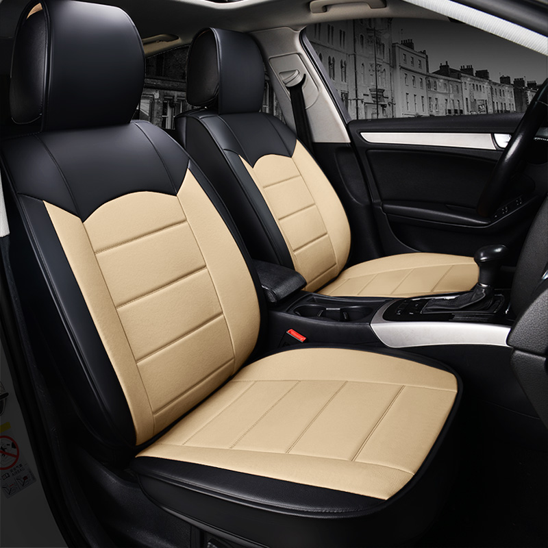 PU Material Business Style Full Coverage Five Seats Universal Seat Covers All Seasons Fit Comfortable And Breathable Wear-resisting  Material Easy To