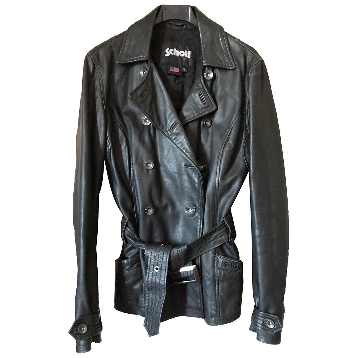 Schott \N Black Leather jacket for Women 36 FR