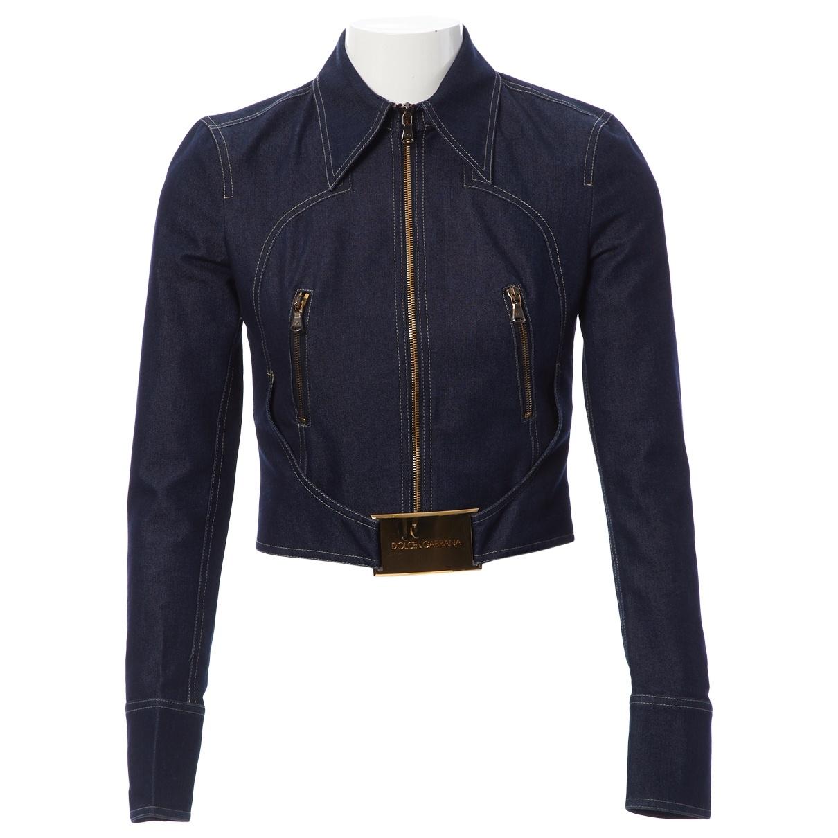 Dolce & Gabbana \N Blue Cotton jacket for Women 38 IT