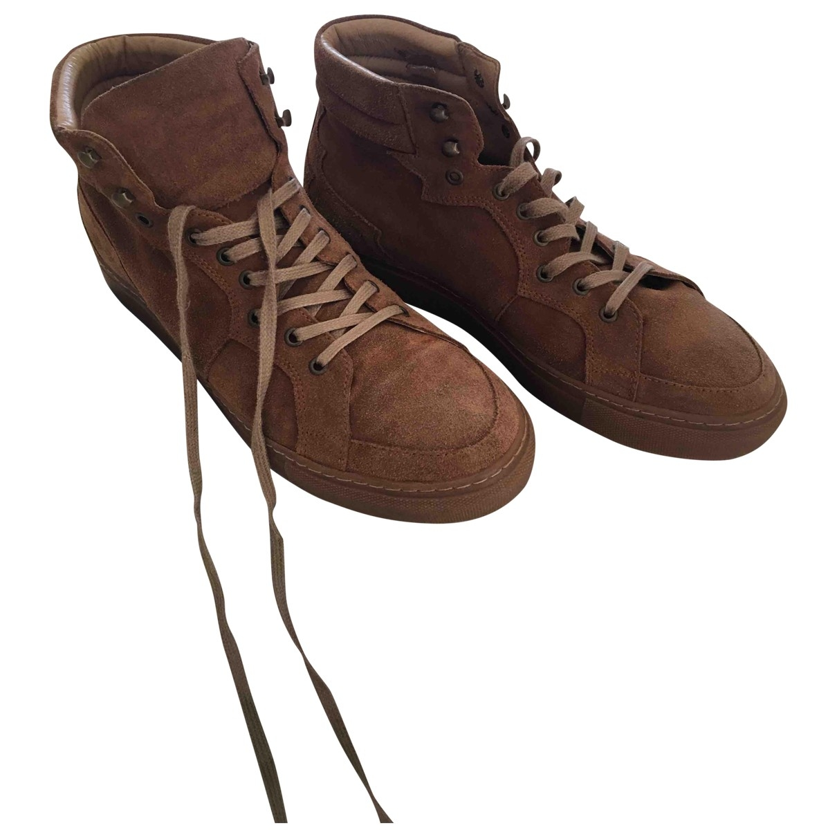 The Kooples \N Camel Suede Trainers for Men 43 EU