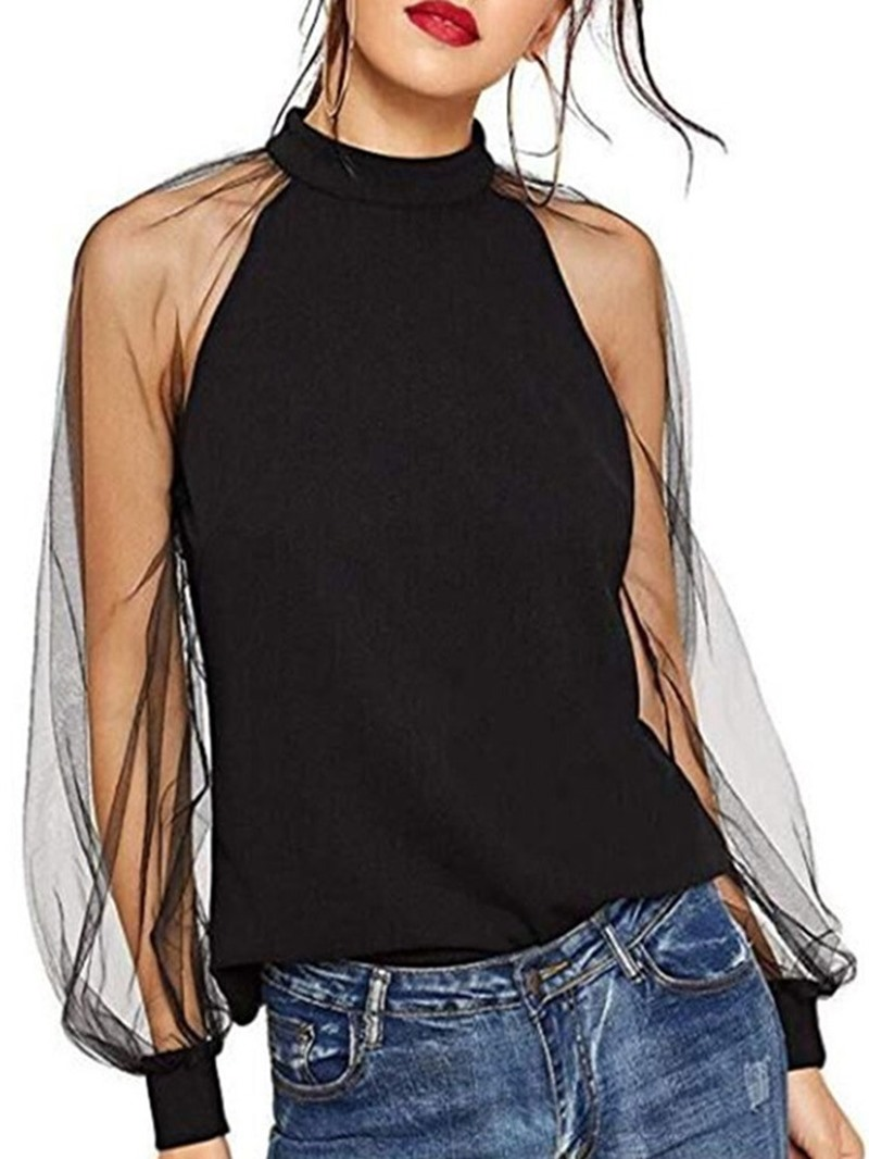Ericdress Plain Standard Long Sleeve Straight T-Shirt