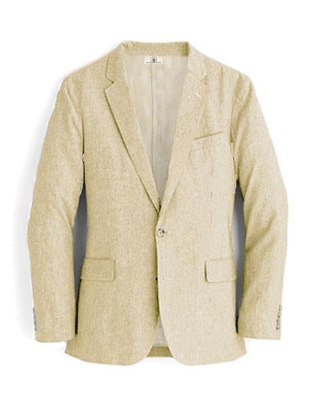 Alberto Nardoni White Linen Blazer for men