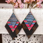 Serape Striped Rhombus Multi-Layered Earrings