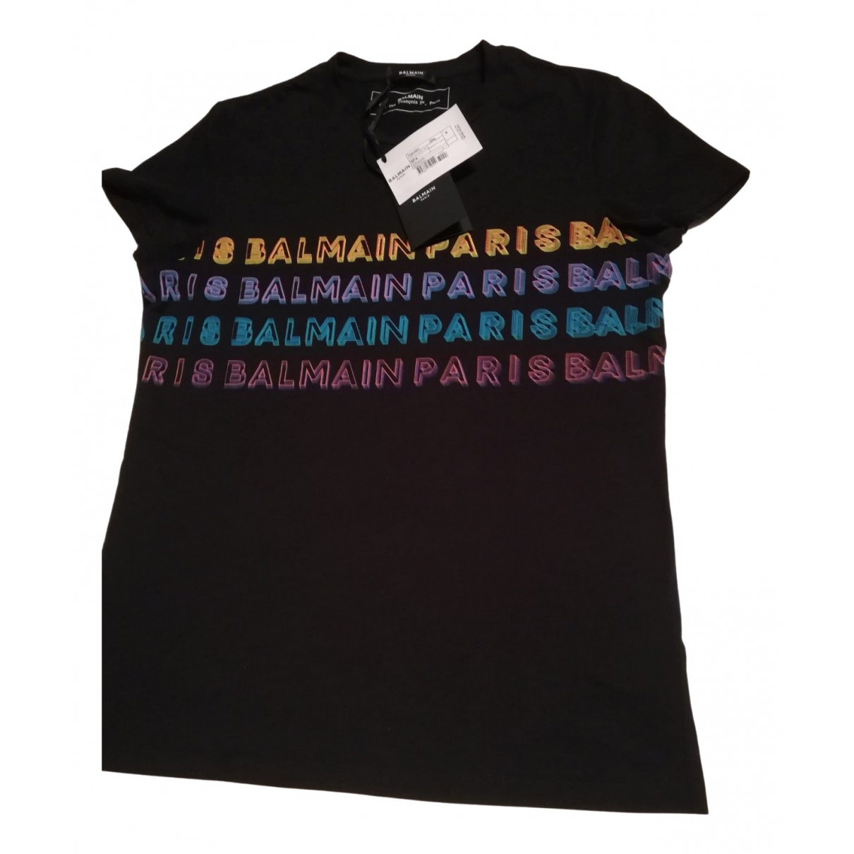 Balmain \N Black Cotton T-shirts for Men S International