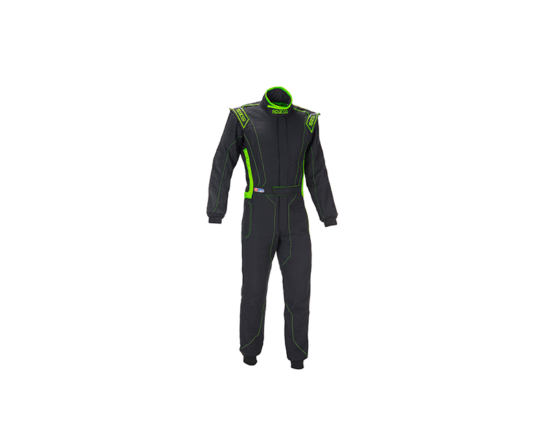 Sparco 001129HB64NRVF Victory RS-4 Boot Cuff Black and Green Racing Suit 64 | XXL