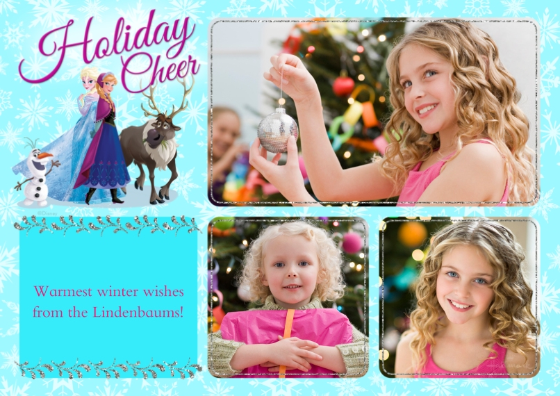 Holiday Photo Cards 5x7 Cards, Premium Cardstock 120lb with Rounded Corners, Card & Stationery -Anna & Elsa Holiday - Frozen