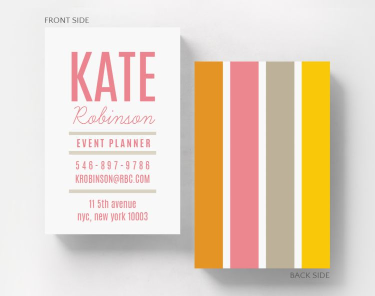 Color Block Business Card Credit Card Size - Business Cards