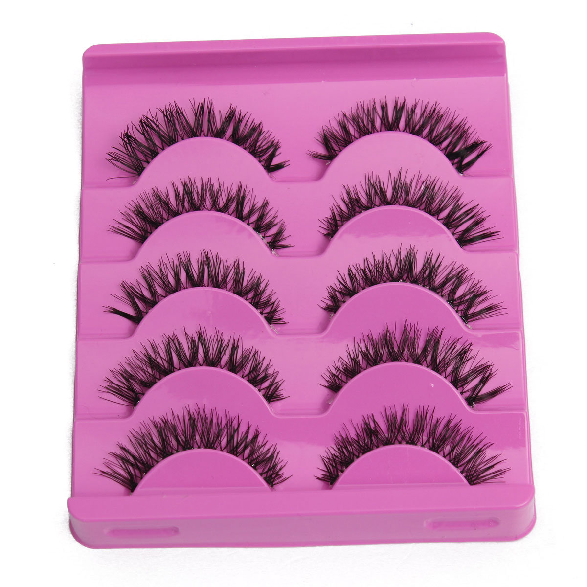 5 Pairs False Eyelashes Eyelash Soft Long Handmade Makeup Eye Lash
