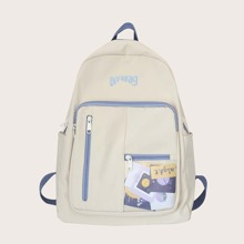 Letter Embroidery Backpack