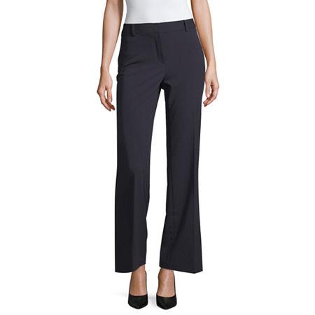 Liz Claiborne Curvy Fit Elizabeth Secretly Slender Bootcut Trousers, 10 , Blue