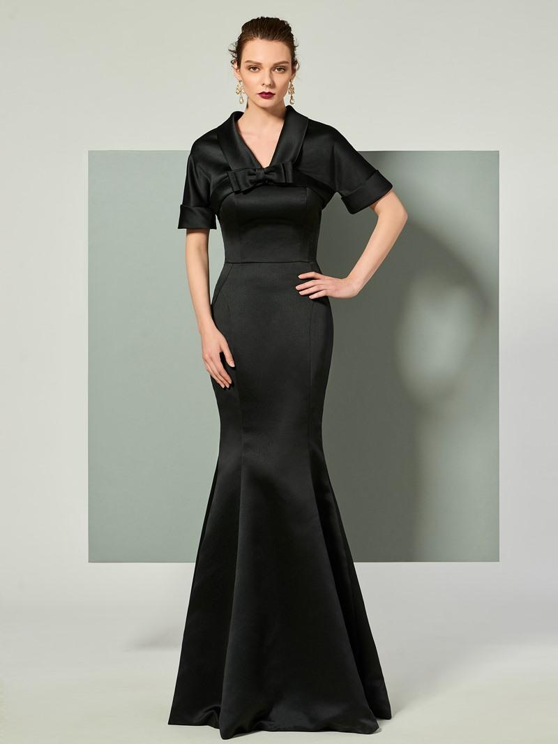 Ericdress Strapless Mermaid Evening Dress With Short Sleeve Jacket