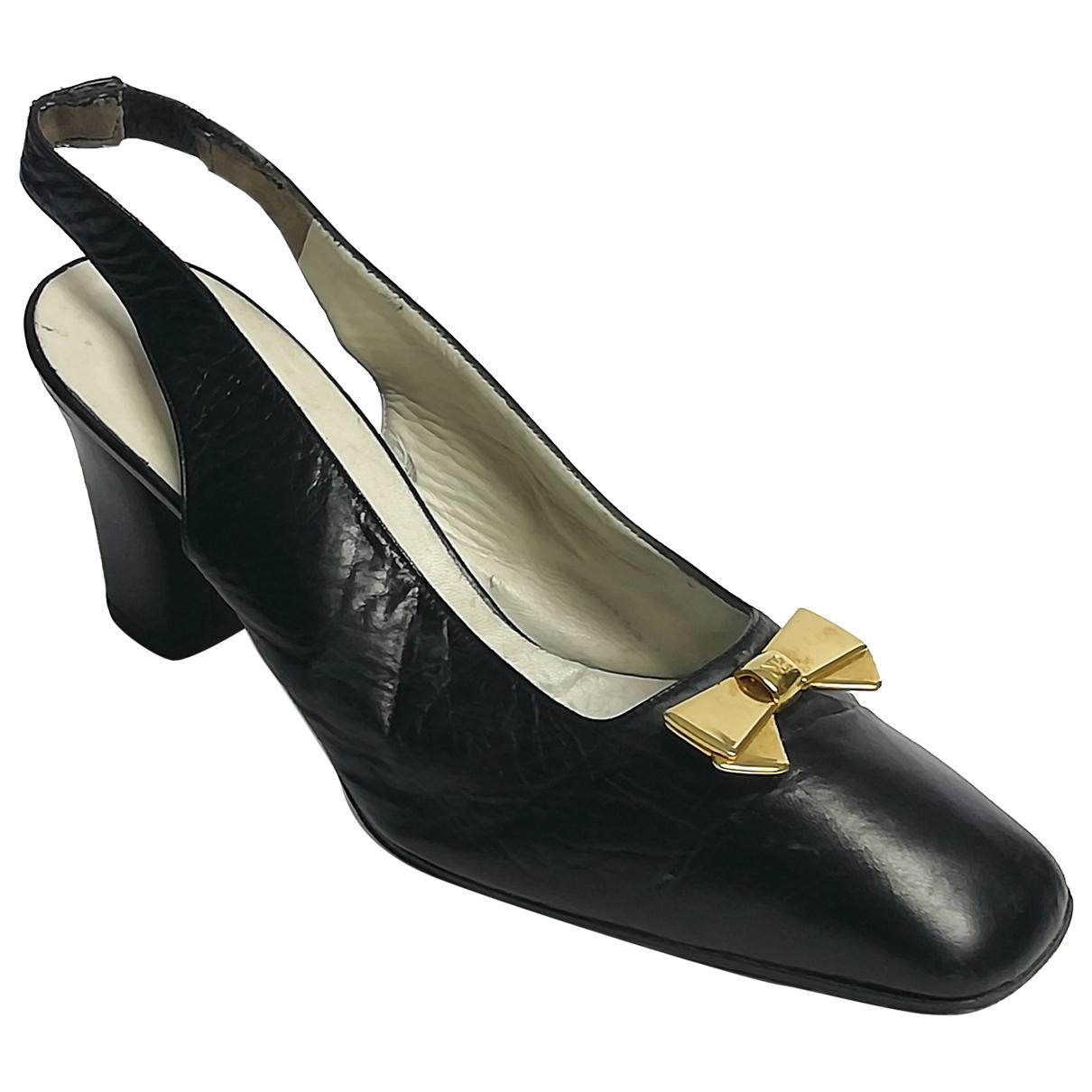 Nina Ricci \N Black Leather Heels for Women 39 IT