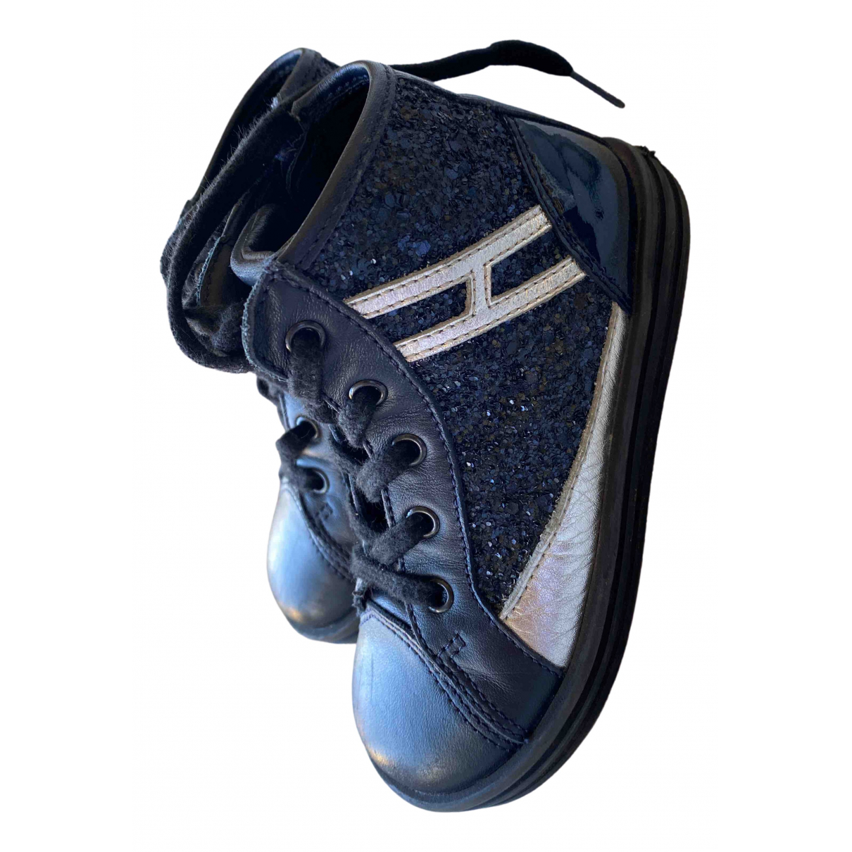 Hogan \N Blue Leather Trainers for Kids 23 FR