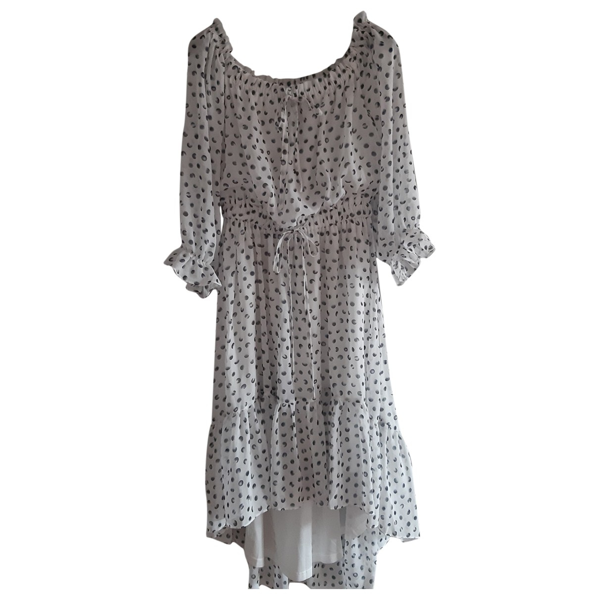 Non Signé / Unsigned Manche ballon White dress for Women M International