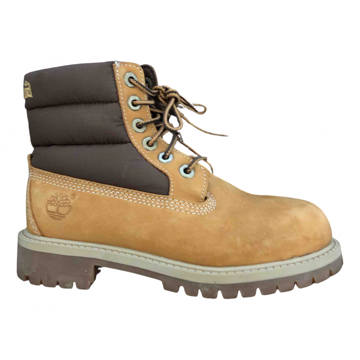 Timberland N Camel Leather Boots for Kids 31 FR