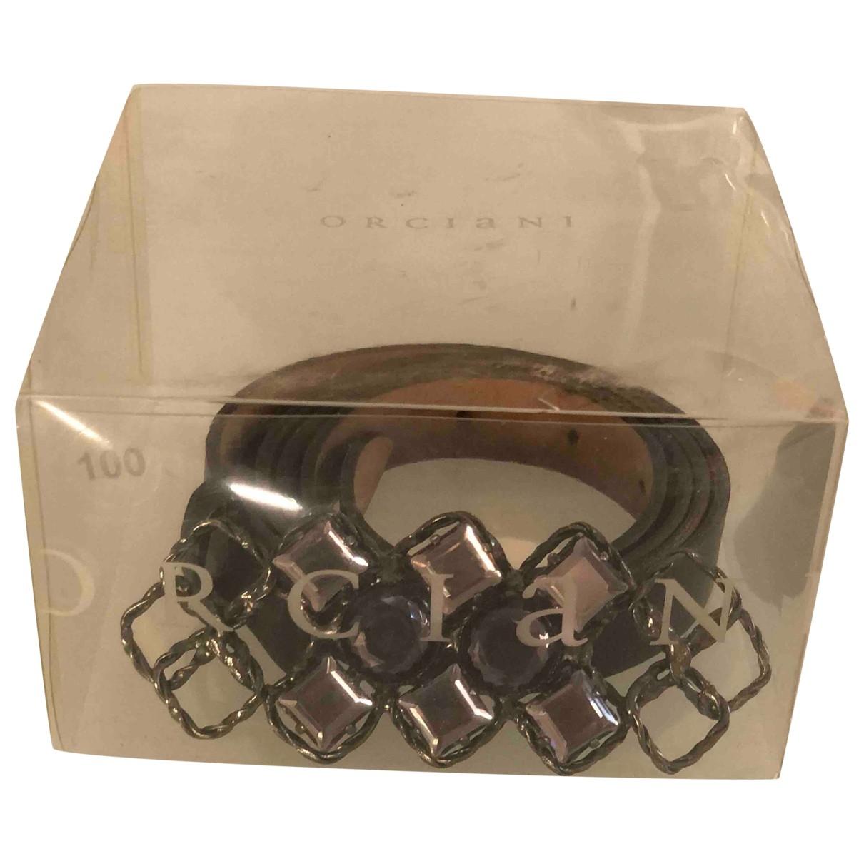 Orciani \N Black Leather belt for Women 90 cm