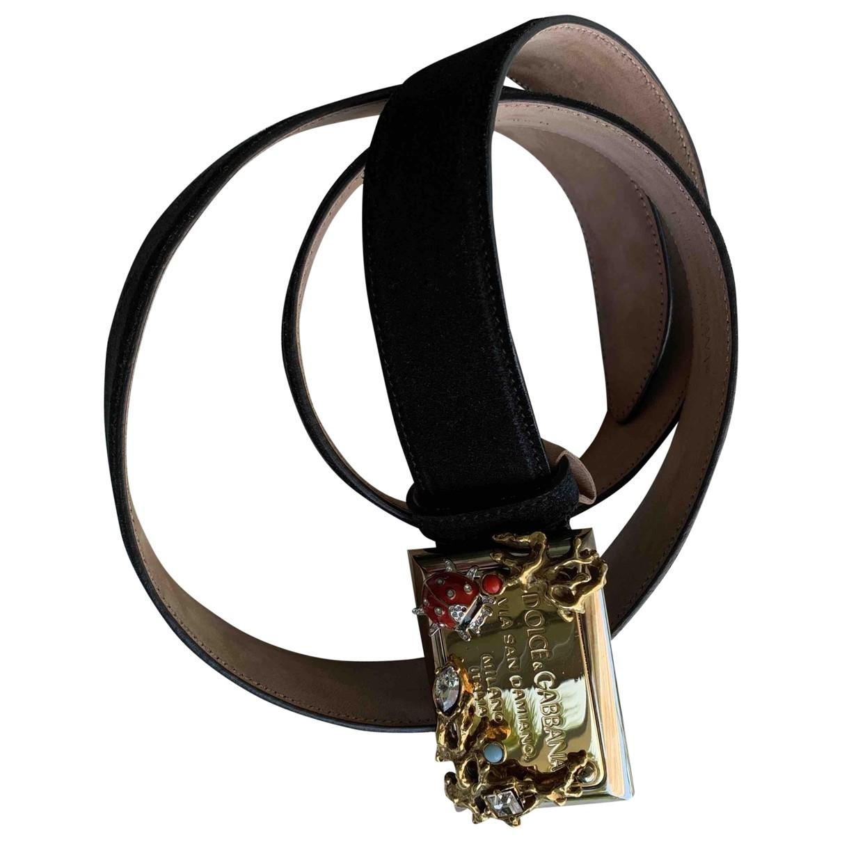 Dolce & Gabbana \N Black Suede belt for Women 90 cm