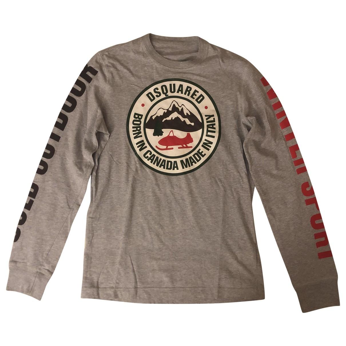 Dsquared2 \N Grey Cotton T-shirts for Men M International