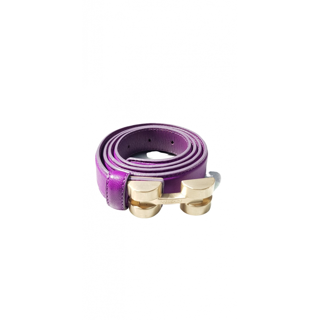 Versace \N Purple Leather belt for Women 85 cm