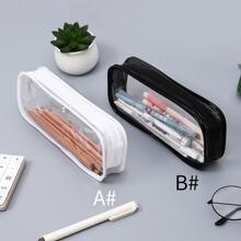Transparent Zipper Pencil Case 1pc