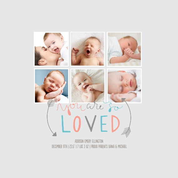 Baby + Kids Framed Canvas Print, Chocolate, 12x12, Home Décor -So Loved