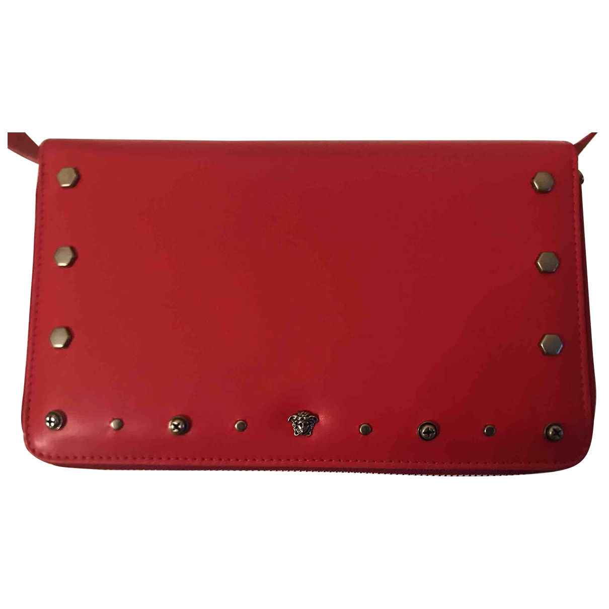 Versace \N Red Leather Clutch bag for Women \N