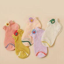5pairs Toddler Kids Heart Pattern Socks